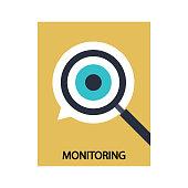istock Monitoring stock illustration 1304820494