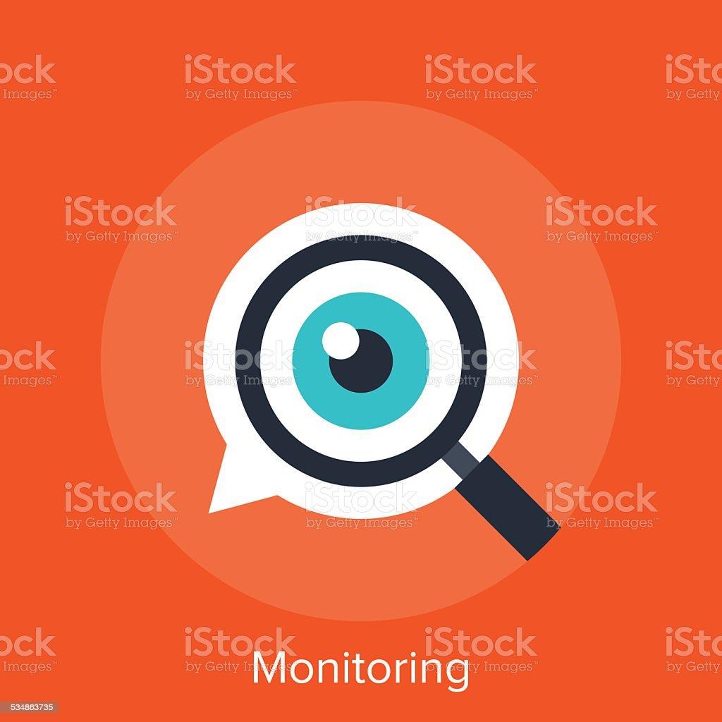 Monitoring vector art illustration