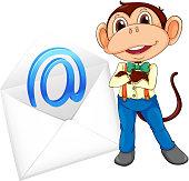 istock Monkey and evelope 170513431