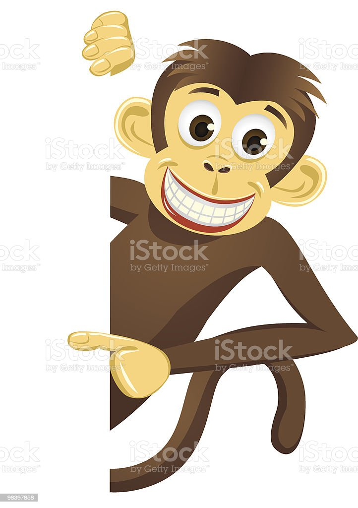 Monkey and white blank royalty-free monkey and white blank stock vector art & more images of animal