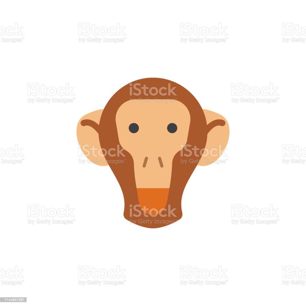 monkey, animal, nature icon. Element of color African safari icon....