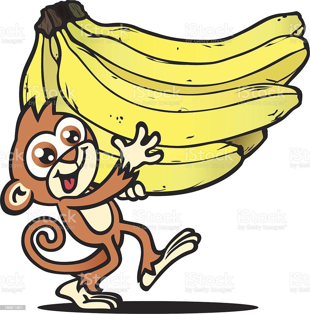 Monkey Bunch royalty-free stock vector art