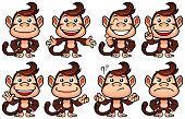 Monkey Cartoon Set