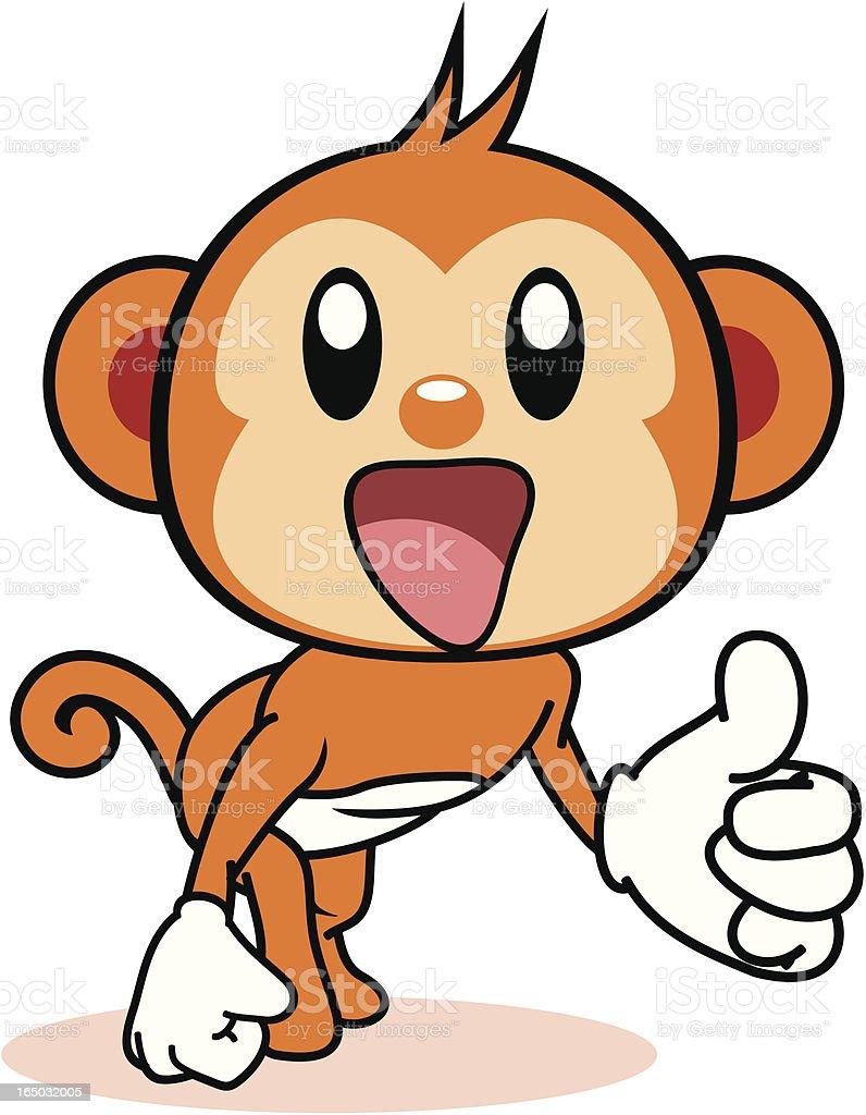 カットイラスト猿 のイラスト素材 165032005   istock