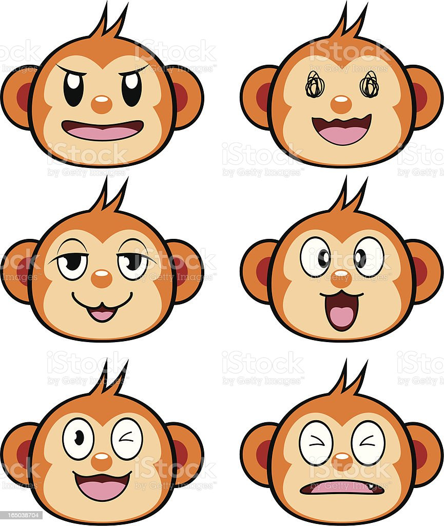 Monkey Cartoon royalty-free stock vector art