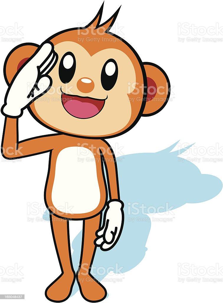 Monkey Cartoon royalty-free stock vector art