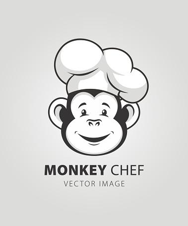 Monkey chef character mascot