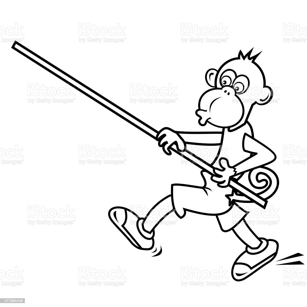 Monkey Coloring Book Stock Vector Art & More Images of 2015 - iStock