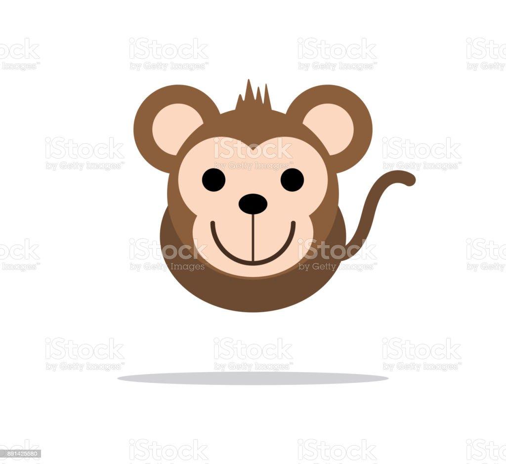 猿かわいい頭文字 のイラスト素材 891425580   istock