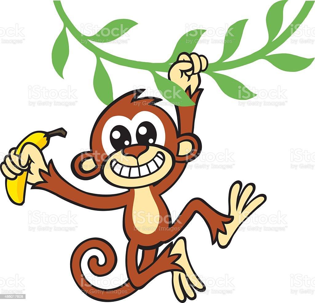 royalty free clip art of a monkey with bananas clip art vector rh istockphoto com