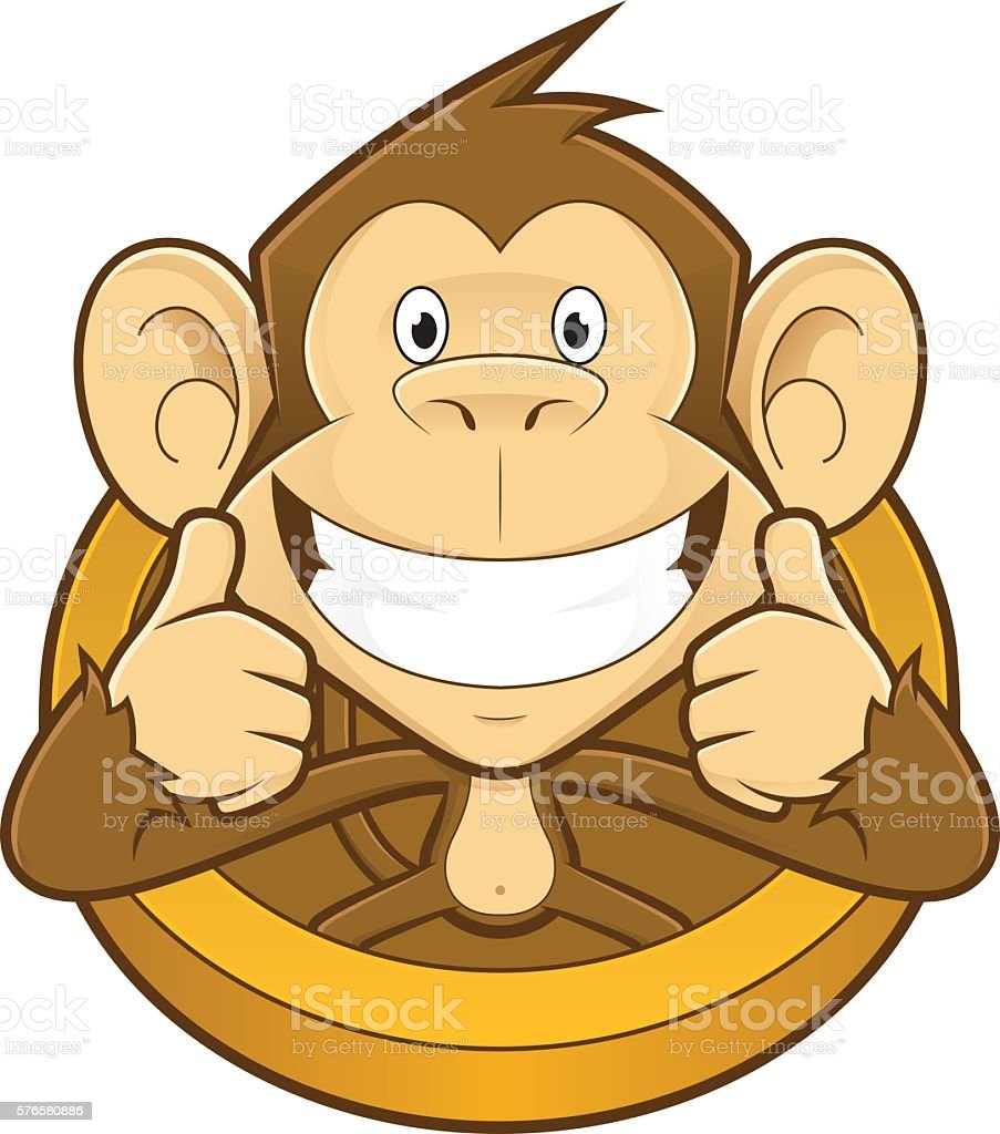 monkey giving two thumbs up stock vector art more images of rh istockphoto com