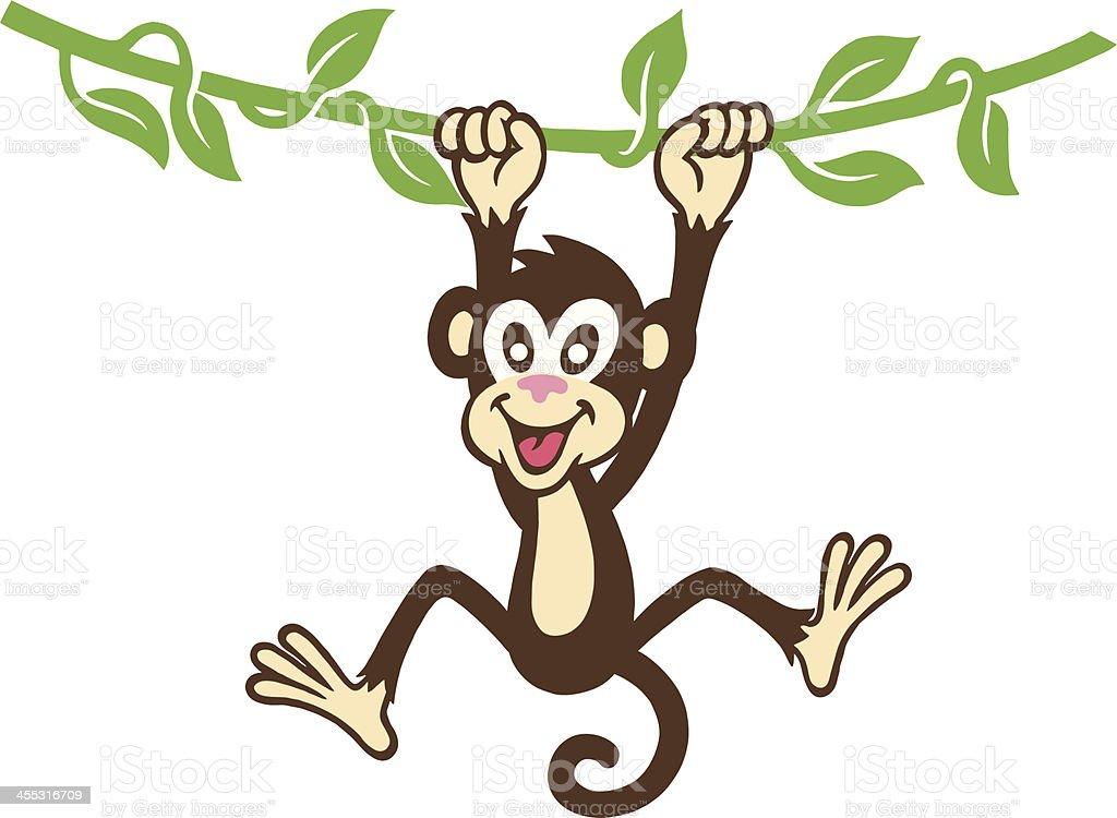 Monkey Hanging royalty-free stock vector art