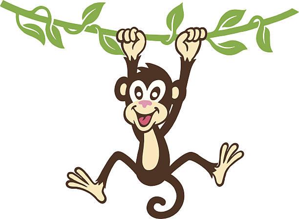 モンキー垂れ下がる - 猿点のイラスト素材/クリップアート素材/マンガ素材/アイコン素材