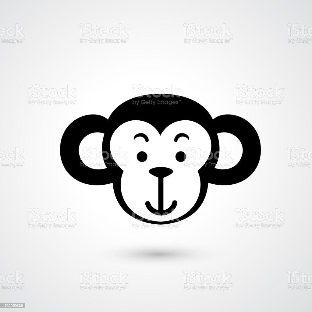 Monkey head icon векторная иллюстрация