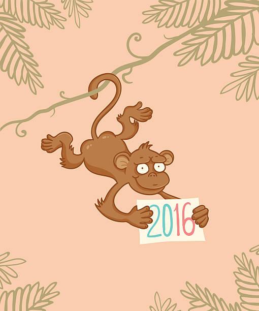 猿のジャングル - 野生動物のカレンダー点のイラスト素材/クリップアート素材/マンガ素材/アイコン素材