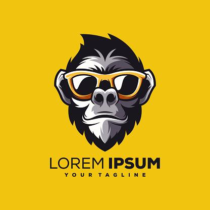 monkey logo design vector