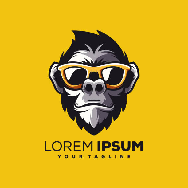 monkey logo design vector monkey logo design vector monkey stock illustrations