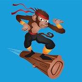 Monkey Ninja flying