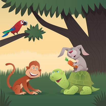 monkey rabbit and tortoise