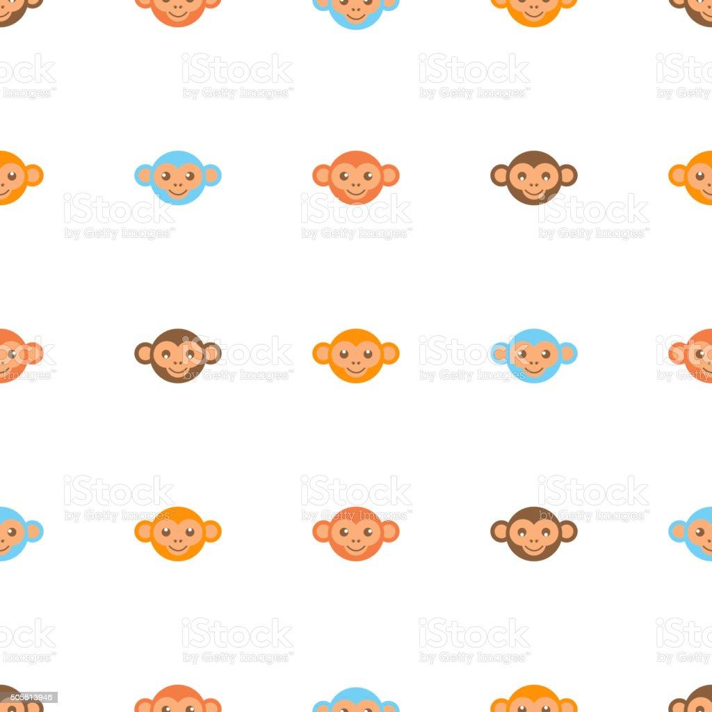 Ilustración de Patrón Sin Costuras De Mono y más banco de imágenes ...