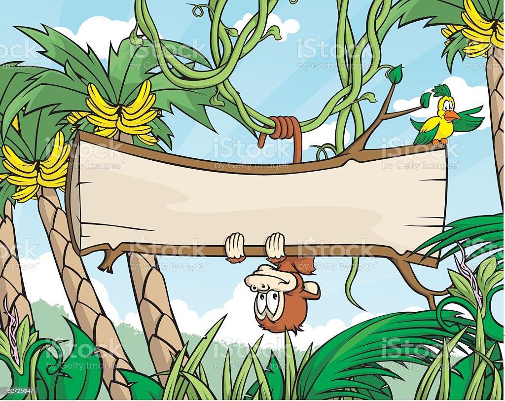 Monkey Sign royalty-free stock vector art