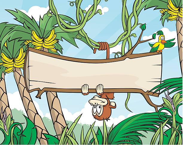 Monkey Sign vector art illustration