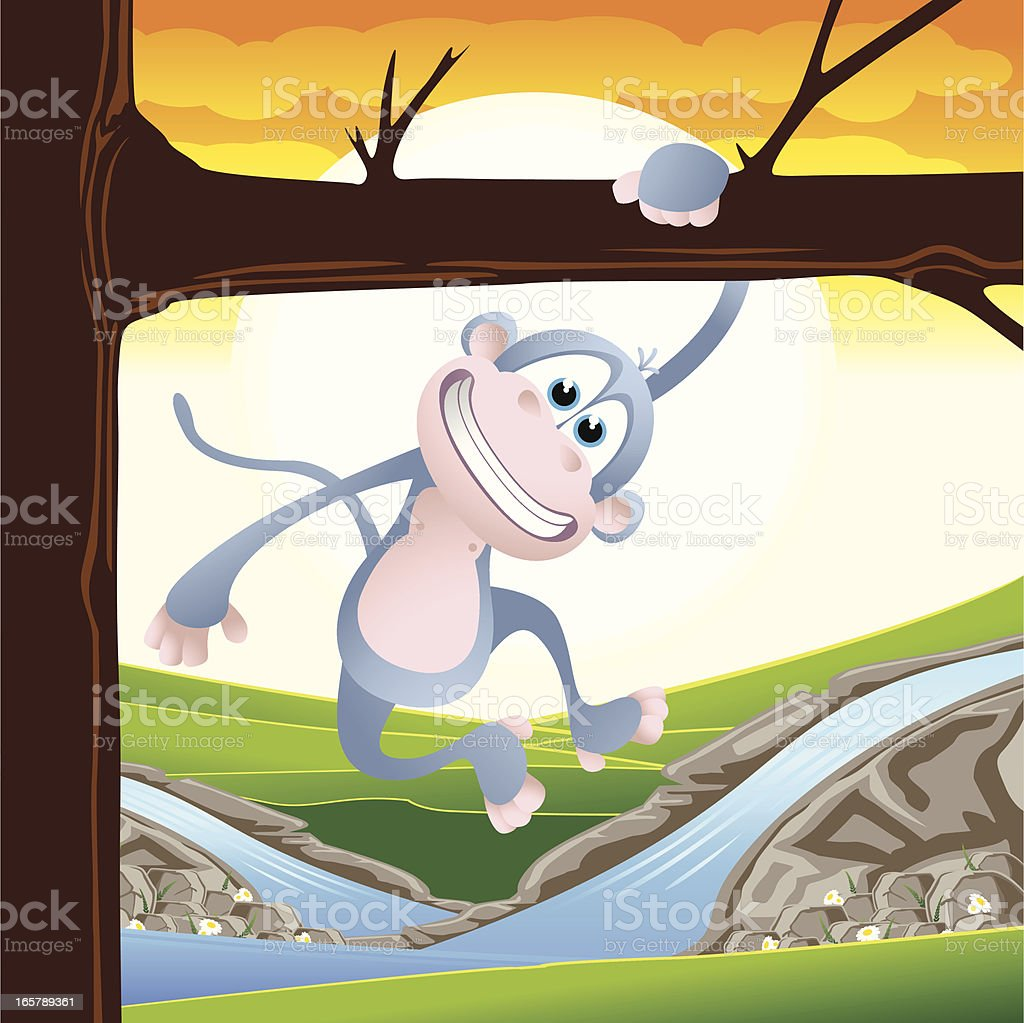 Monkey swinging from a tree royalty-free monkey swinging from a tree stock vector art & more images of animal
