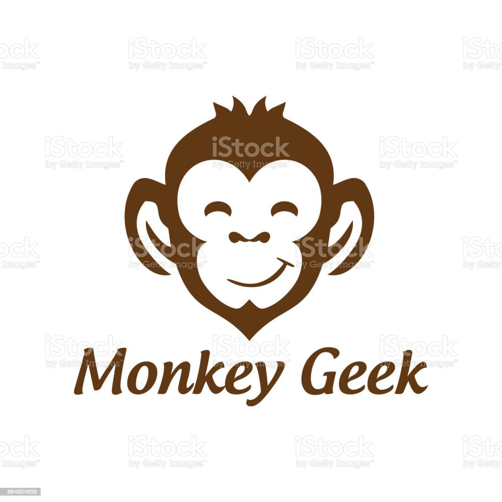 Monkey Symbol Vector Design royalty-free monkey symbol vector design stock vector art & more images of abstract