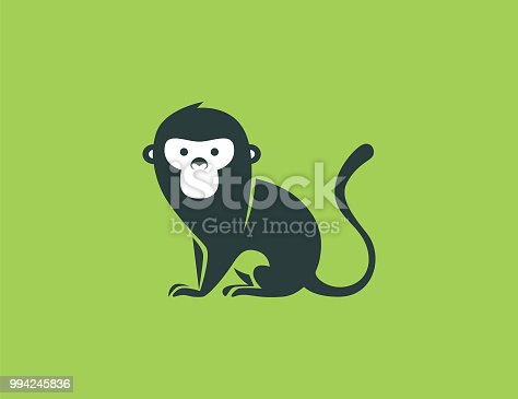 vector illustration of monkey symbol