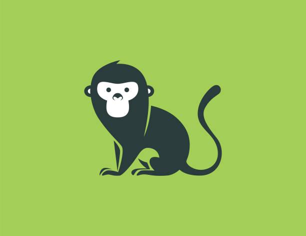 monkey symbol - monkey stock illustrations