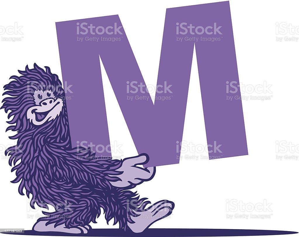 Monkey royalty-free stock vector art