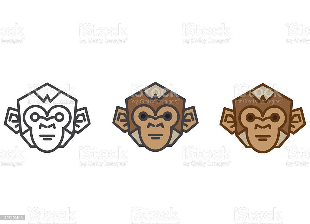 monkey vector illustration - ilustración de arte vectorial