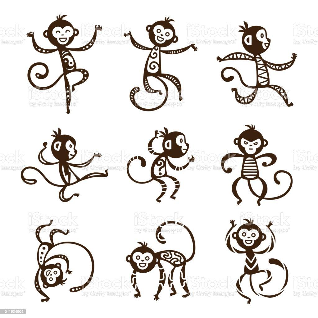 Monkey Vektor-illustration – Vektorgrafik