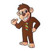 Monkey with tie.