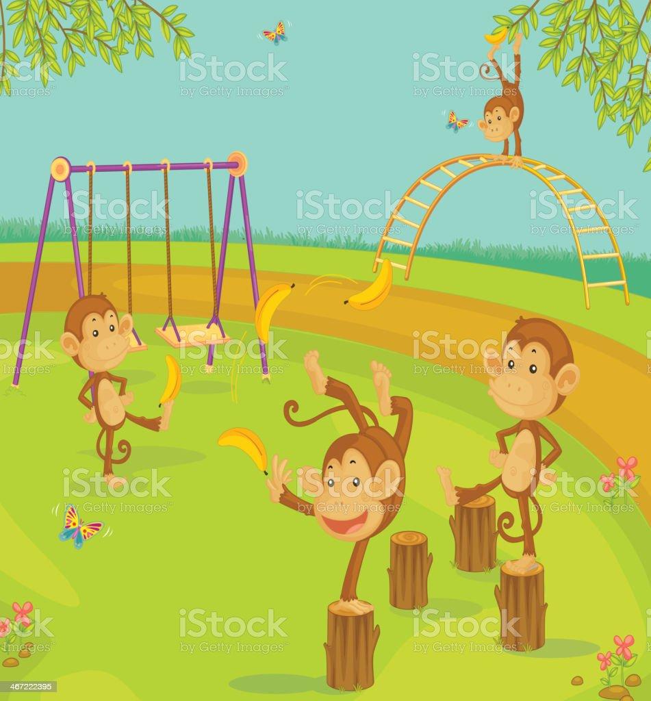 Monkeys royalty-free stock vector art
