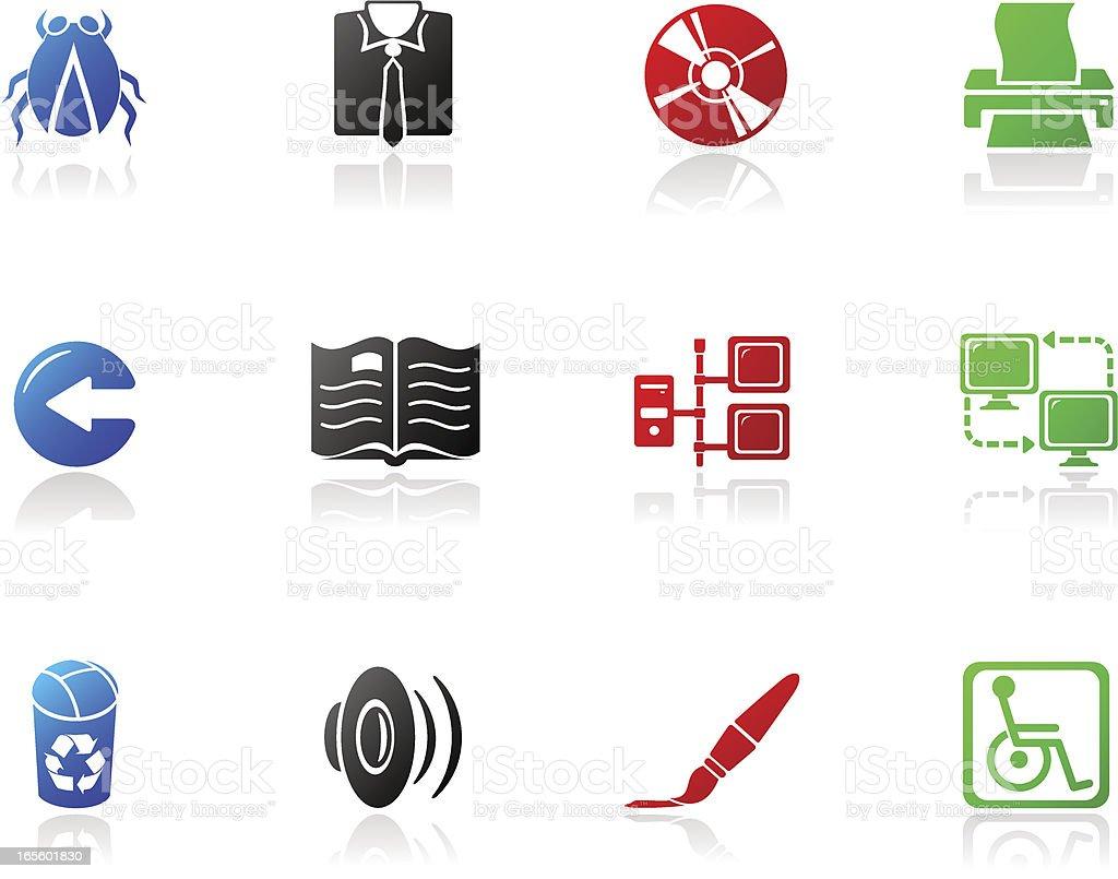 Mono Icons | Series Three vector art illustration
