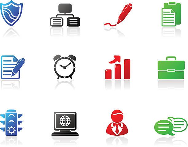 mono icons | series two - byteandpixel stock illustrations