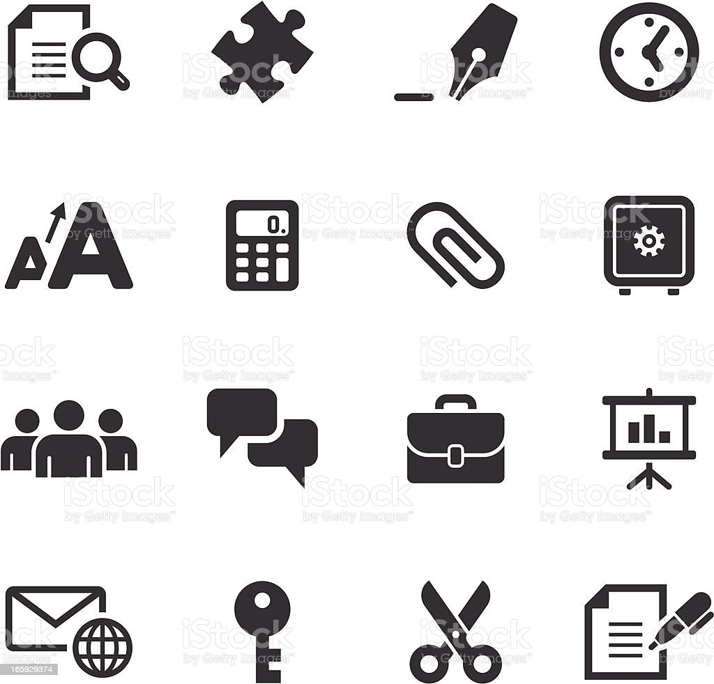 Mono Icons Set | Business & Office royalty-free mono icons set business office stock vector art & more images of alphabet
