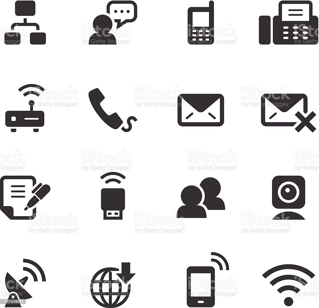 Mono Icons Set | Communication royalty-free stock vector art