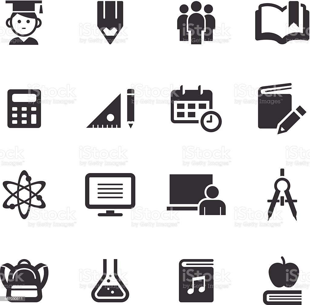 Mono Icons Set | Education royalty-free stock vector art