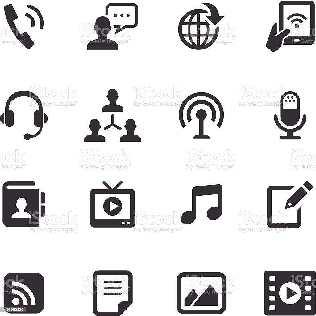 Mono Icons Set | Social Media vector art illustration