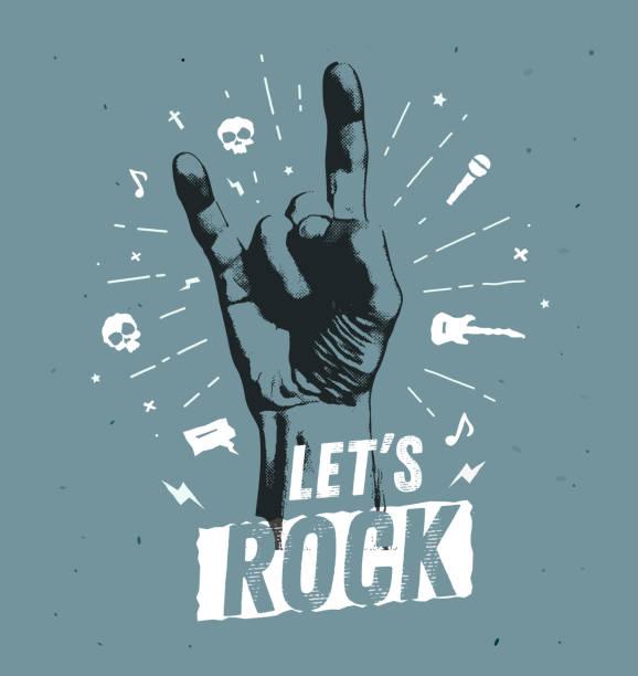 흑백 골동품 hipster 빈티지 라벨, 배지, 크레스트 로큰롤 전단지 포스터 로고 또는 t-셔츠의 복 의류 레터링 손으로 인쇄와 번개에 대 한 - 말기 stock illustrations