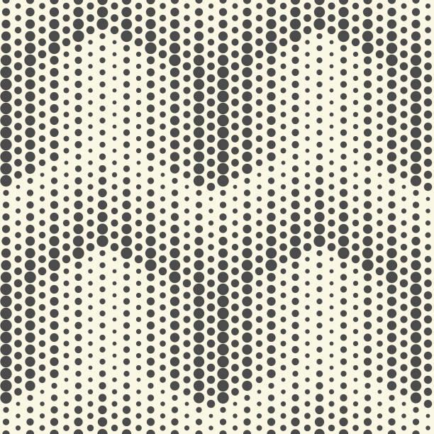 Monochrome Pfeil Hintergrund. Nahtloses Halbtonmuster – Vektorgrafik