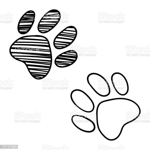 Monochrome black and white dog cat pet animal paw foot isolated hand vector id1011570354?b=1&k=6&m=1011570354&s=612x612&h=y2mfu4shu9rxogo0ey w3eijbcz59a6cc01ck 9gexu=