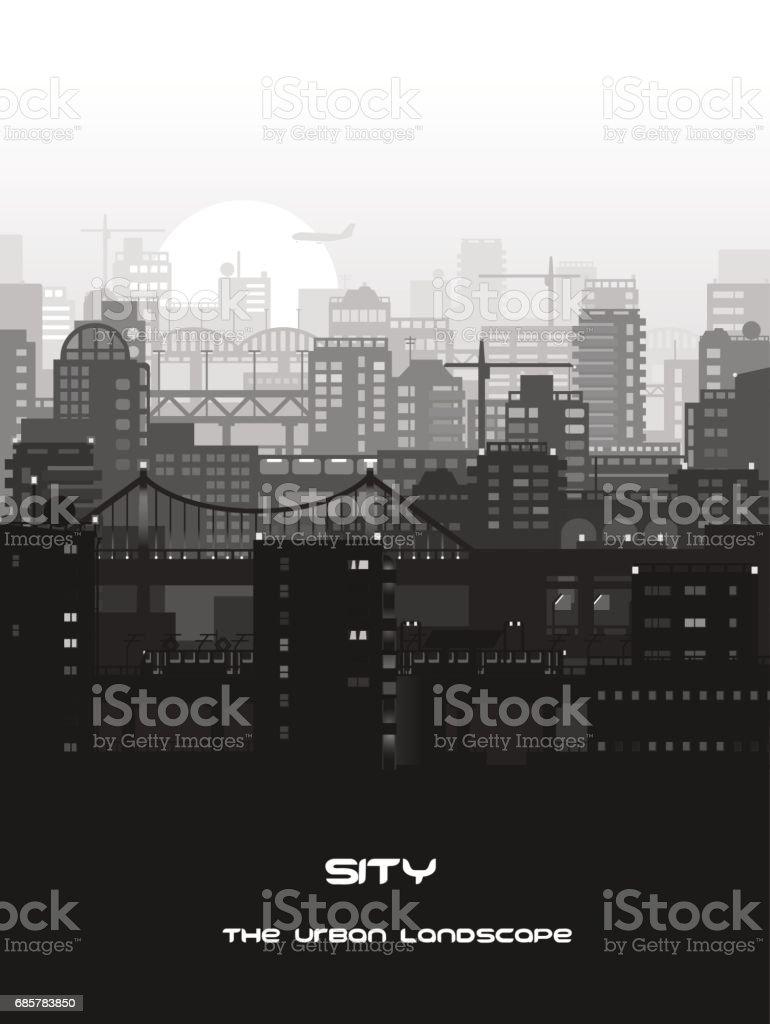 Monochrome city landscape royalty-free monochrome city landscape stock vector art & more images of architecture