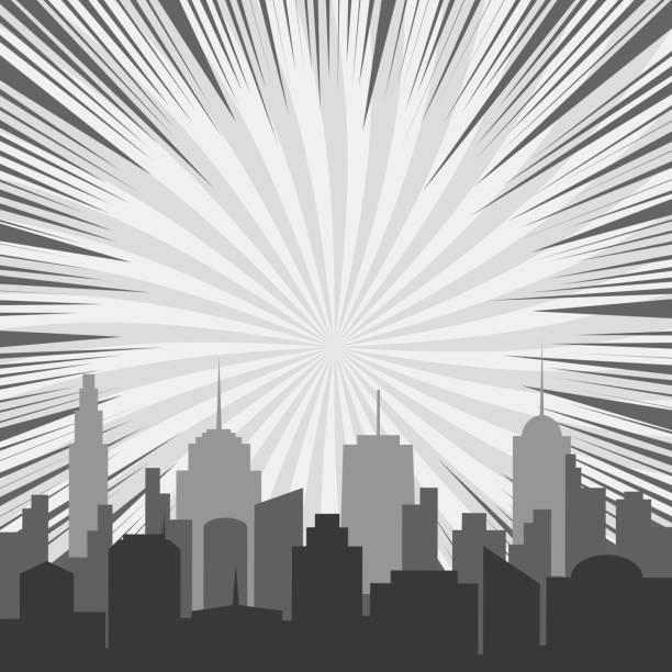 モノクロ漫画背景 - 漫画の風景点のイラスト素材/クリップアート素材/マンガ素材/アイコン素材