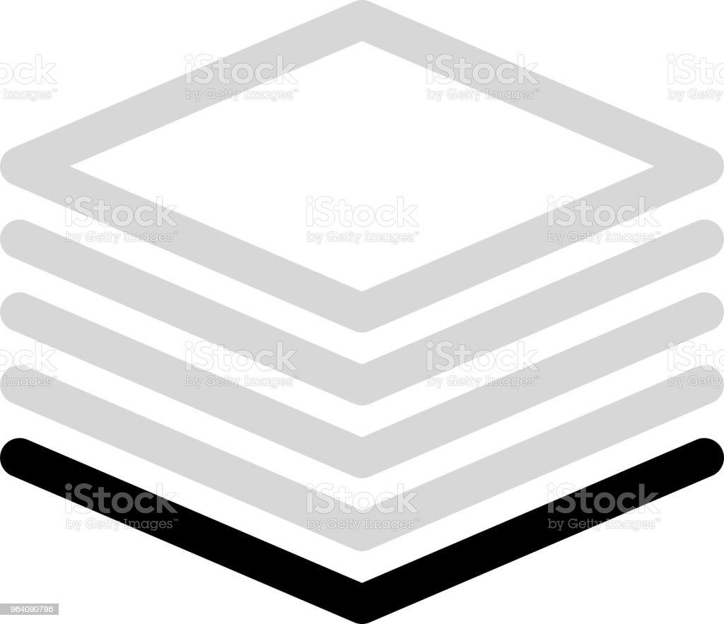 Monochrome diamond meter 1 - Royalty-free Abstract stock vector