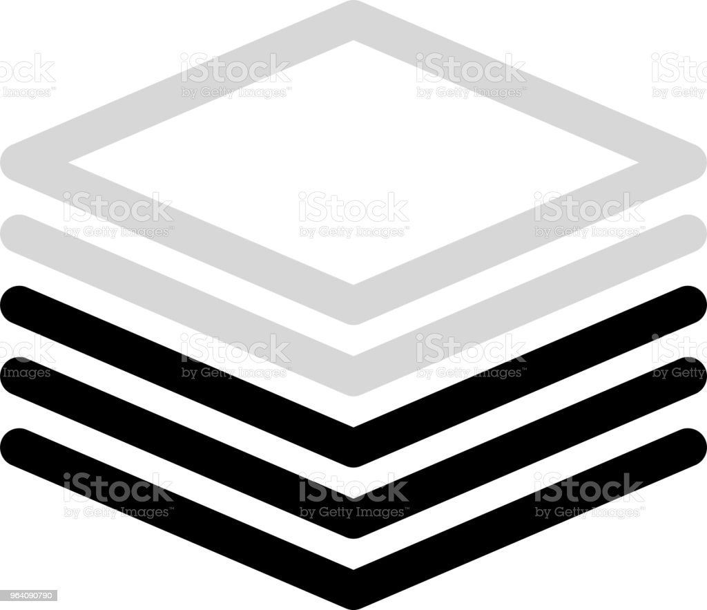 Monochrome diamond meter 3 - Royalty-free Abstract stock vector