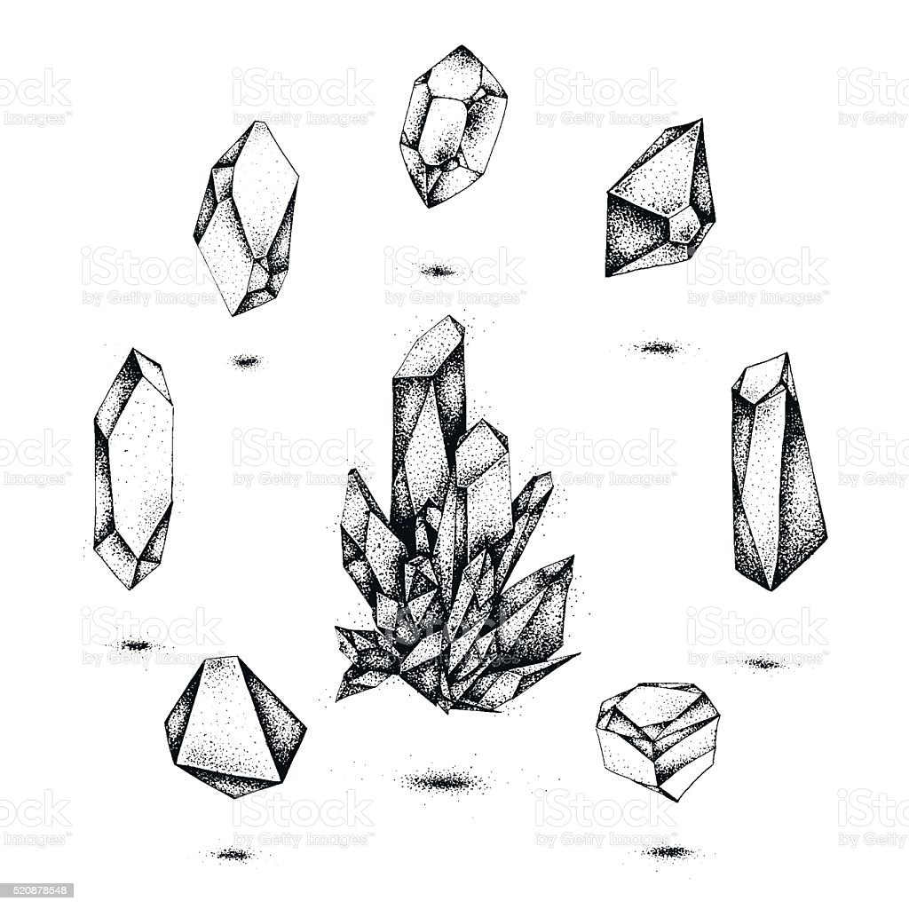 Monochrome Diamond Tattoo Art Stock Illustration Download Image