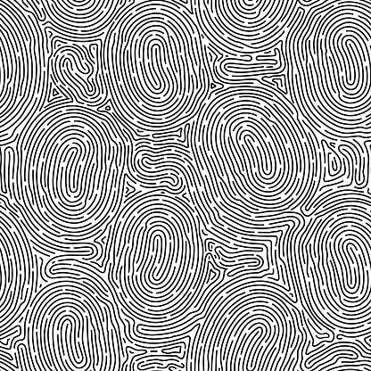 Monochrome doodle abstract seamless background with stroke line.